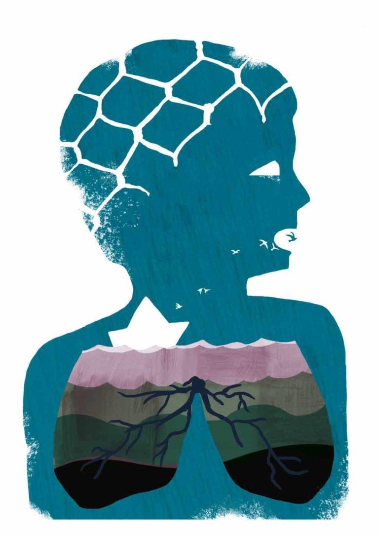 S.O.S. illustration for gràfica activa – projecte refugi